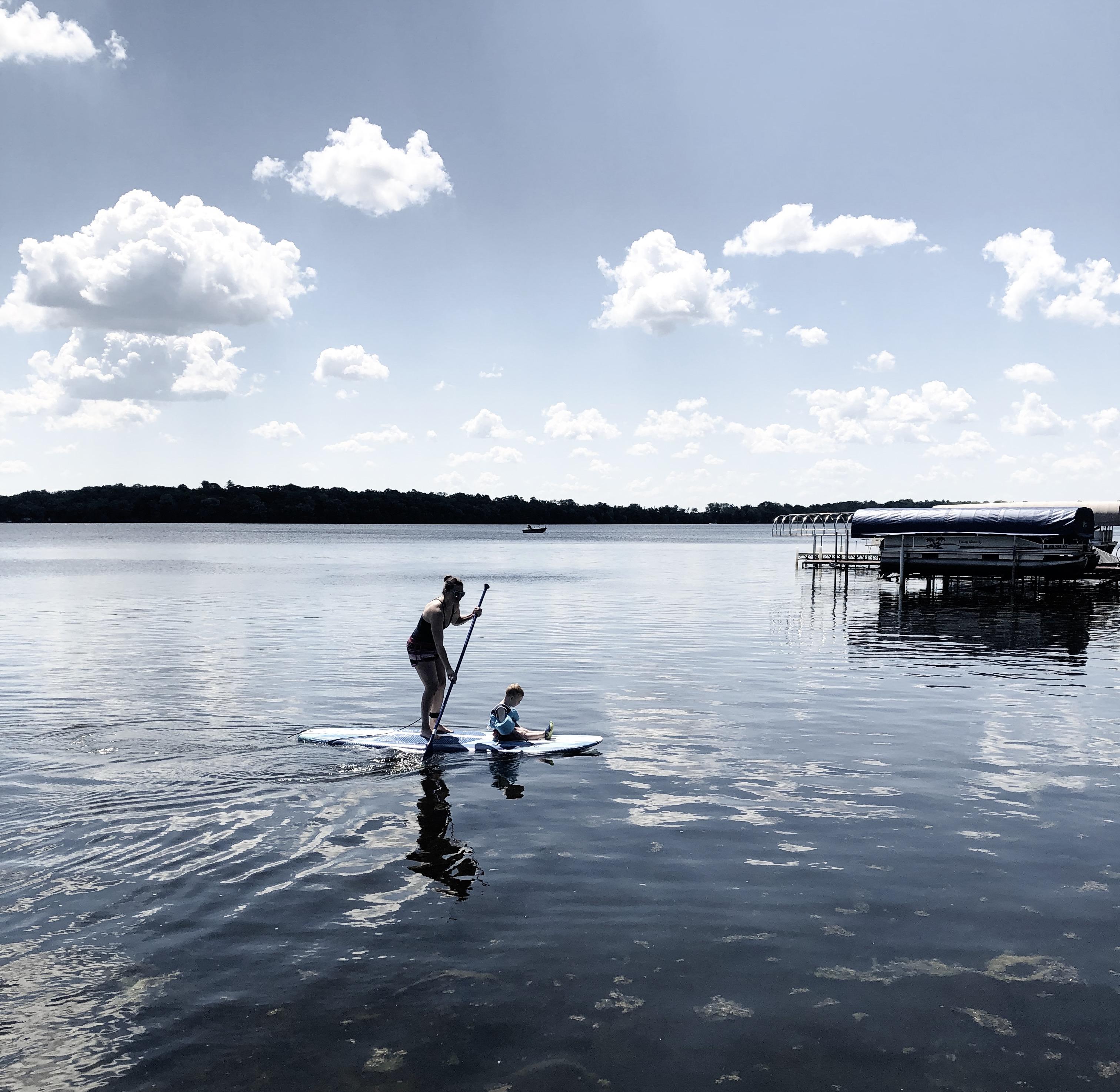 paddleboarding minnesota lakes