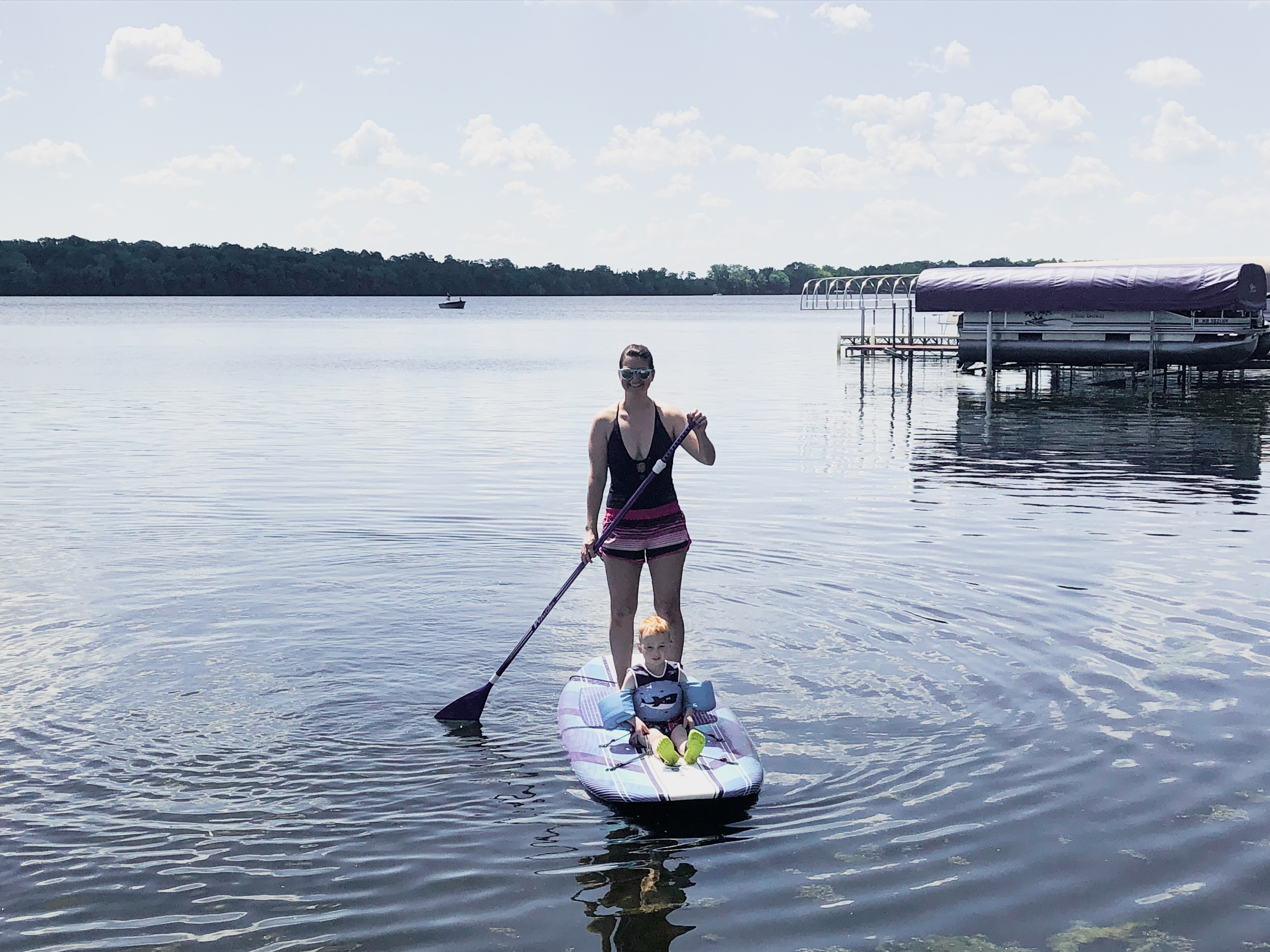 paddleboarding with kids